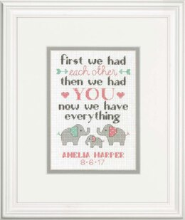Dimensions Family Birth Record Cross Stitch Kit - 12.5 x 18 cm