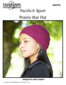 Prarie Star Hat in Cascade Yarns Pacific Sport - DK579 - Downloadable PDF