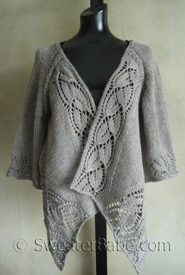 #112 Dramatic Lace Top-Down Wrap Cardigan
