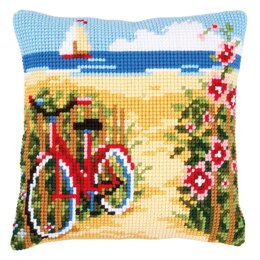 Vervaco At the Beach Cushion Cross Stitch Kit