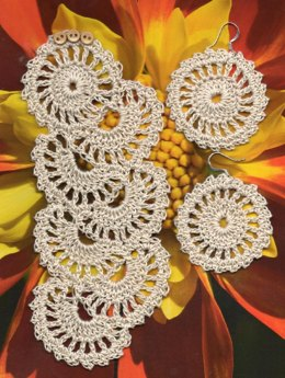 Lace Crochet Bracelet and earring set