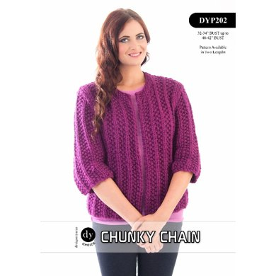 Moss Rib Jacket in DY Choice Chunky Chain - DYP202