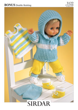 Doll's Outfit in Hayfield Bonus DK - 3122 - Downloadable PDF