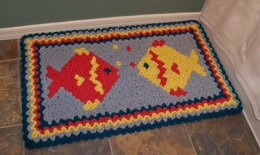 Wiggly Fish Rug