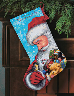 Dimensions Santa and Toys Stocking Tapestry Kit - 33 x 51 cm