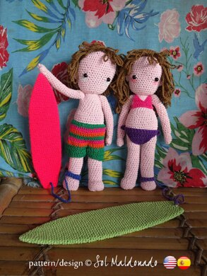 Amigurumi Surfer Dolls