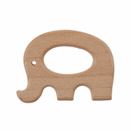 Trimits Macrame Wooden Craft Shapes for Hanging Decorations and Baby Accessories - Elephant screen reader support enabled.
