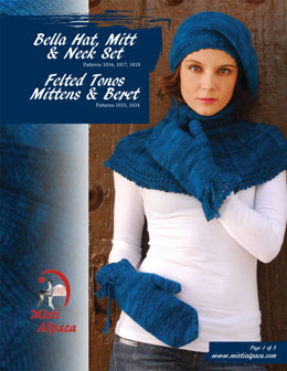 Bella Hat, Mitt & Neck Set in Misti Alpaca Tonos Worsted - 1016 - Downloadable PDF