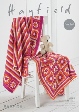Blankets in Hayfield Baby DK - 4683- Downloadable PDF