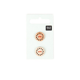 Rico Small Wooden Light Brown Buttons