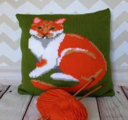 Ginger & White Cat Portrait Cushion Cover