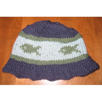 Gone Fishing Hat Knitting Pattern By Tonia Barry