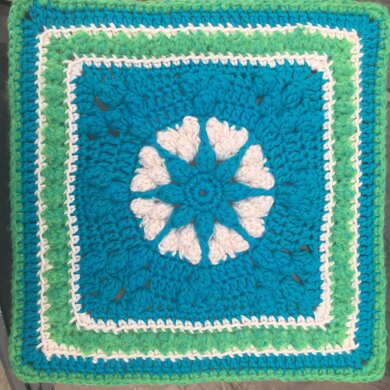 Popcorn Hearts Afghan Square