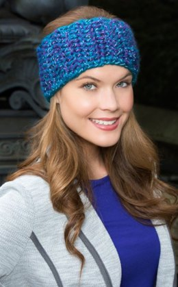 Blissful Ear Warmer in Red Heart Reflective - LW3999
