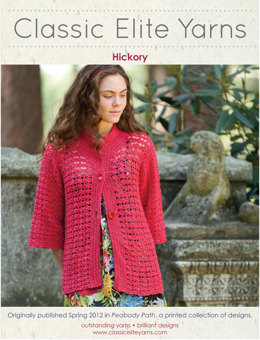 Hickory Jacket in Classic Elite Yarns Firefly - Downloadable PDF