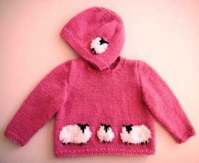 Baby Sheep Jumper and Hat