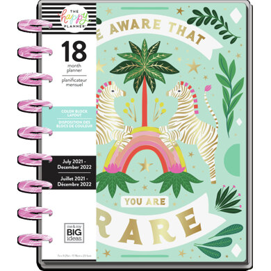 Me & My Big Ideas The Happy Planner Jungle Vibes Classic 18 Month Planner
