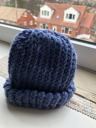 Baby Hat 0 8 Month Knitted On Round Loom Knitting Project By Liam G