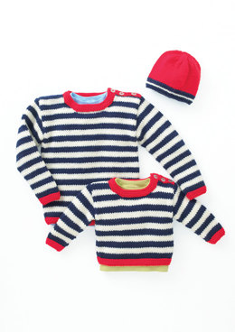 Hat and Sweater in Hayfield Baby Chunky - 4453