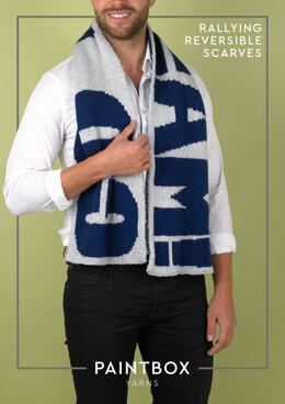 """""""Rallying Reversible Scarf"""" - Free Scarf Knitting Pattern in Paintbox Yarns Simply DK"""