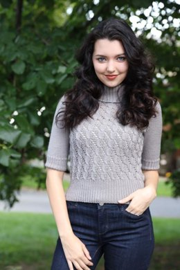 Women's Cable Lace Pullover in Plymouth Yarn Arequipa Worsted - 2997 - Downloadable PDF