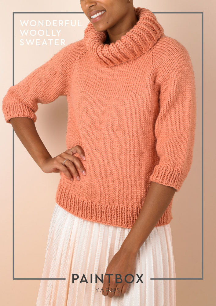 Wonderful Woolly Sweater In Paintbox Yarns Wool Mix Chunky