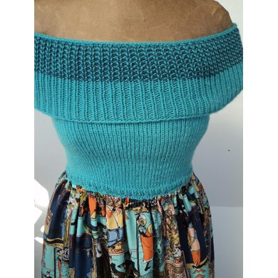 Knit & Sew Strapless Maxi Dress Pattern with Shoulder Cowl