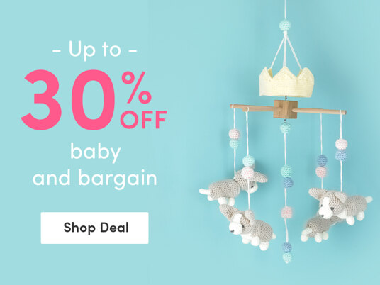 Up to 30 percent off baby and bargain yarn!