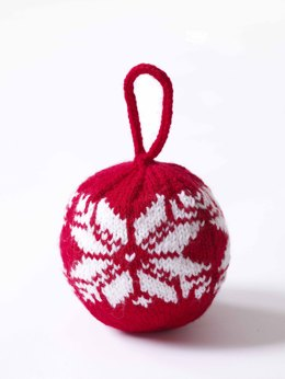 Fair Isle Snowflake Ornament in Lion Brand Wool-Ease - 70735AD