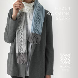 Heart Warming Scarf in MillaMia Naturally Soft Merino - Downloadable PDF