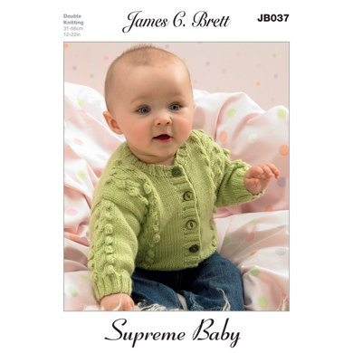 Sweaters and Cardigans in James C. Brett Supreme Baby DK - JB037