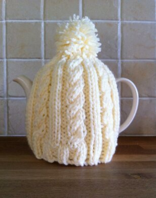 Easy Cable Tea Cosy Knitting pattern by Daisy Gray Knits | Knitting  Patterns | LoveKnitting