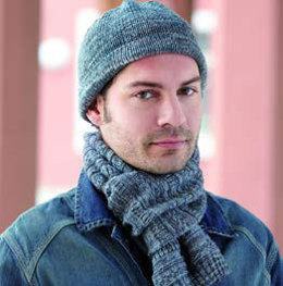 Men's Hat & Scarf in Regia Extra Twist Merino Colour 4 Ply - 7264 - Downloadable PDF