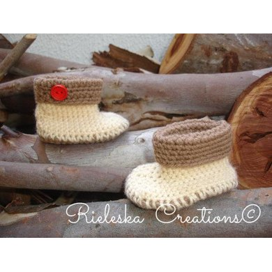 Crochet Baby cuffed Booties-shoes