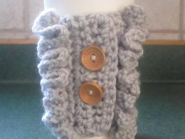 Ruffled Coffee Cozy