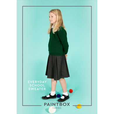 """Everyday School Jumpers"" : Jumper Knitting Pattern in Paintbox Yarns DK 