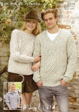 Sweaters in Hayfield Bonus Aran - 9219