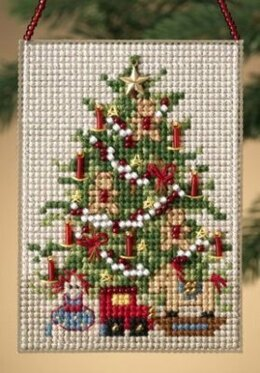 Mill Hill Old Fashioned Tree Charmed Ornament Cross Stitch Kit - 6.5cm x 9cm
