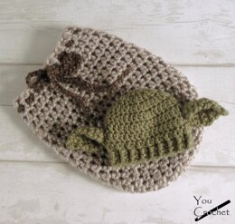 Star Wars Yoda Swaddle Sack and Hat
