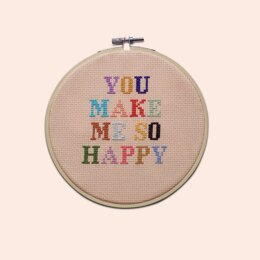 Cotton Clara You Make Me Happy Cross Stitch Kit