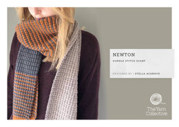 """Newton Scarf by Stella Ackroyd"" - Scarf Knitting Pattern For Women in The Yarn Collective"