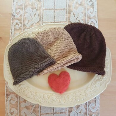 Simple Roll Brim Baby Beanie