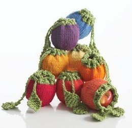 Fruit Cozies in Bernat Handicrafter Cotton Solids