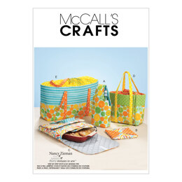 McCall's Carriers Hot Pad and Picnic Totes M6338 - Paper Pattern Size One Size Only