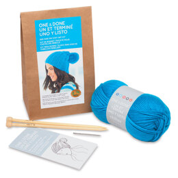 Lion Brand BAD HAIR DAY KNIT HAT - Kit