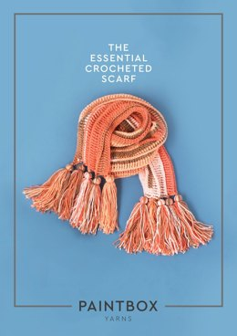 """""""The Essential Crocheted Scarf"""" - Scarf Crochet Pattern in Paintbox Yarns Chunky Pots"""