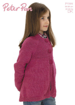 3 Buttons Jacket in Peter Pan DK 50g - 1144