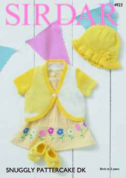 Baby Girl's Bolero, Sunhat & Shoes in Sirdar Snuggly Pattercake DK - 4923 - Downloadable PDF