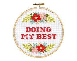 The Stranded Stitch Doing My Best Cross Stitch Kit - 5 inches