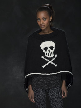 Jolly Roger Poncho in Lion Brand Wool-Ease Thick & Quick - L40331
